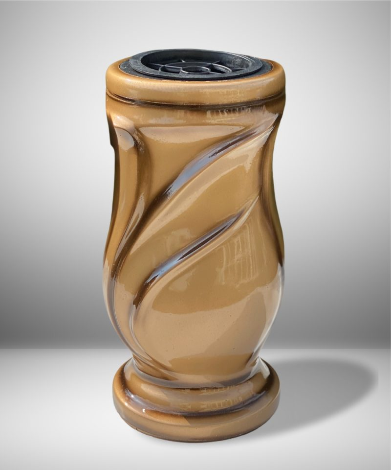 Vaza kapams lapai auksinė 1