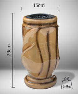 Vaza kapams lapai auksinė 2