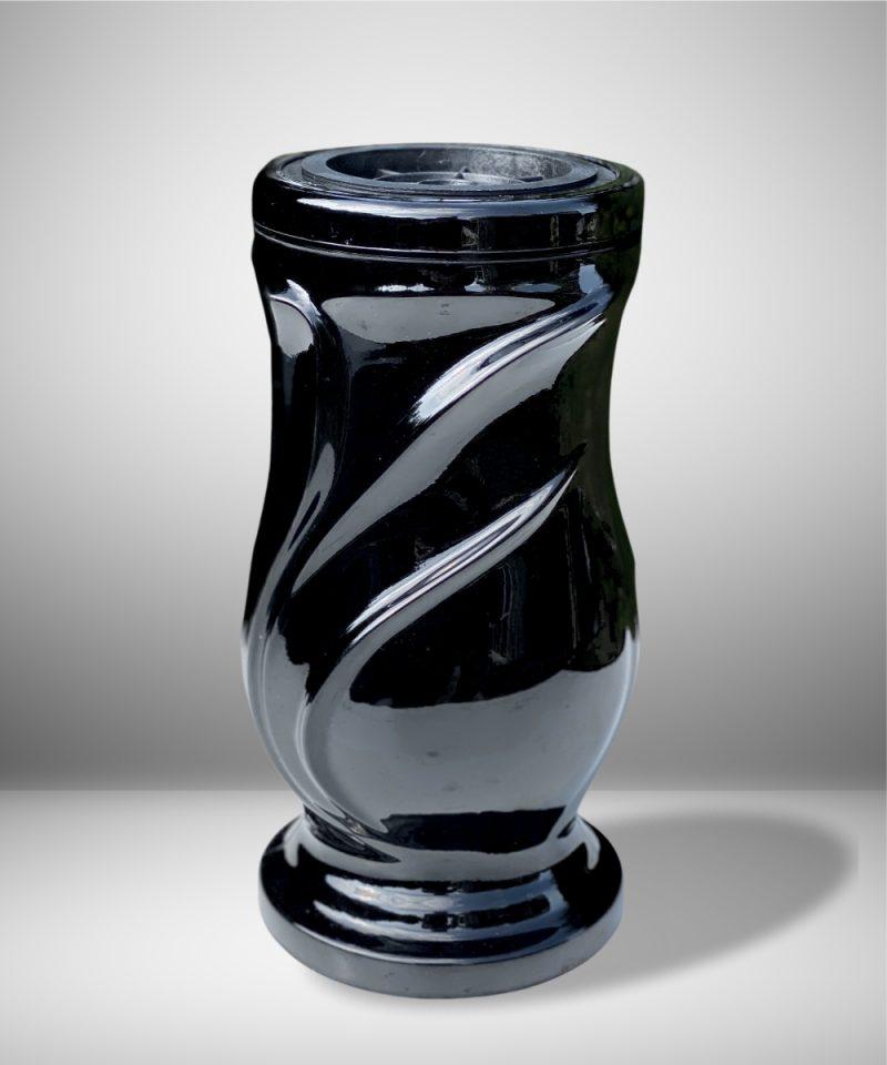 Vaza kapams lapai juoda 1