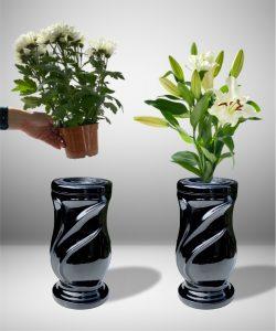 Vaza kapams lapai juoda 3