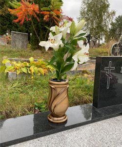 Vazos kapams auksas