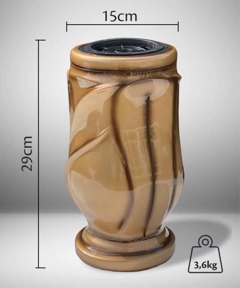 Vaza kapams kalija auksinė 2
