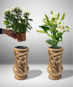 Vaza kapams kalija auksinė 3