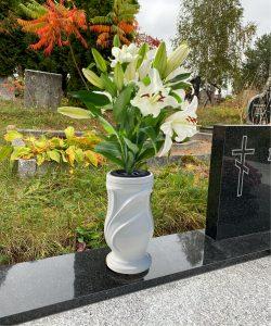 Vaza kapams lapai balta 4