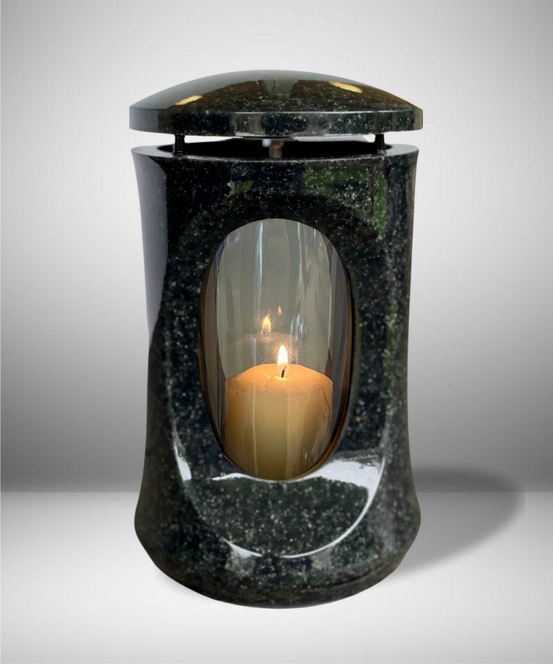 žvakidė kapams - klasika - tamsiai pilka 1
