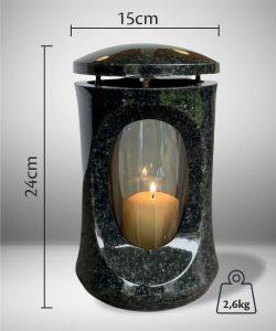 žvakidė kapams - klasika - tamsiai pilka 2