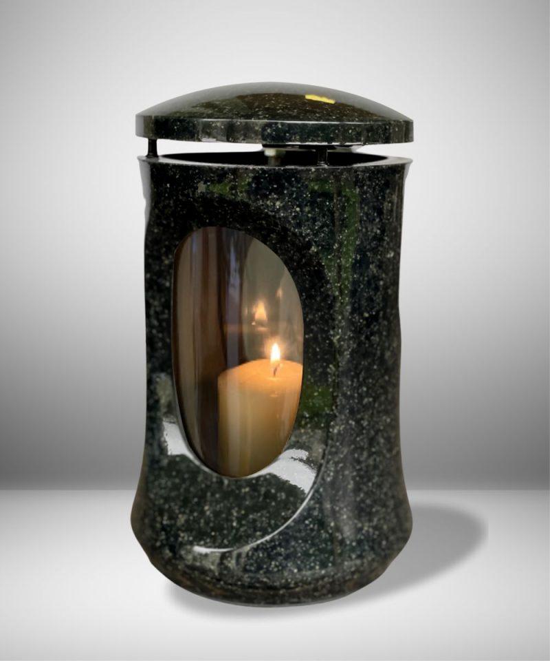 žvakidė kapams - klasika - tamsiai pilka 3