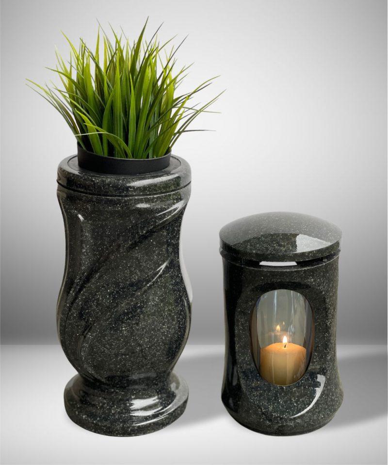 žvakidė kapams - klasika - tamsiai pilka 4